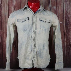 Polo Ralph Lauren Distressed Denim Shirt Button Up